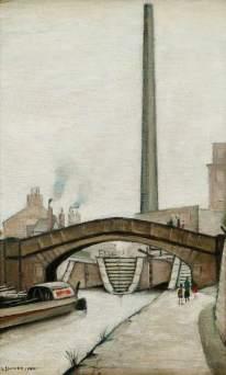 Lowry, Laurence Stephen, 1887-1976; Canal Bridge