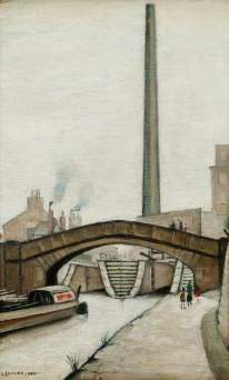 Lowry, Laurence Stephen, 1887-1976; Canal Bridge