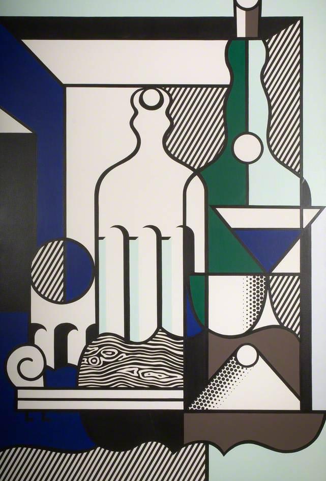 Lichtenstein, Roy, 1923-1997; Purist Painting with Bottles