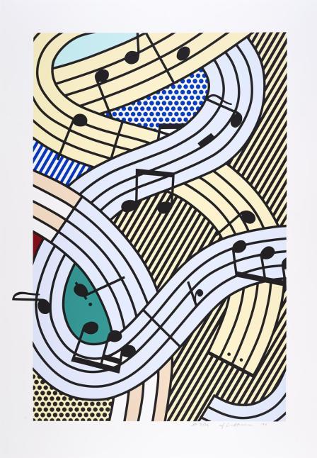 Composition III 1996 by Roy Lichtenstein 1923-1997