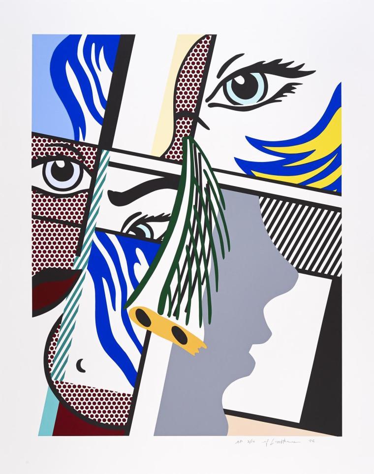 Modern Art II 1996 by Roy Lichtenstein 1923-1997