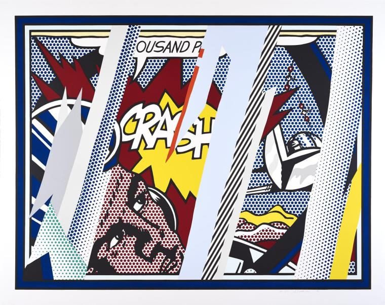 Reflections on Crash 1990 by Roy Lichtenstein 1923-1997