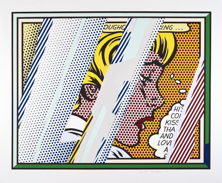 Reflections on Girl 1990 by Roy Lichtenstein 1923-1997
