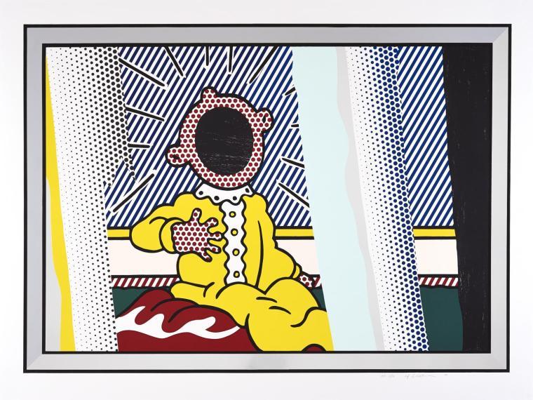 Reflections on The Scream 1990 by Roy Lichtenstein 1923-1997