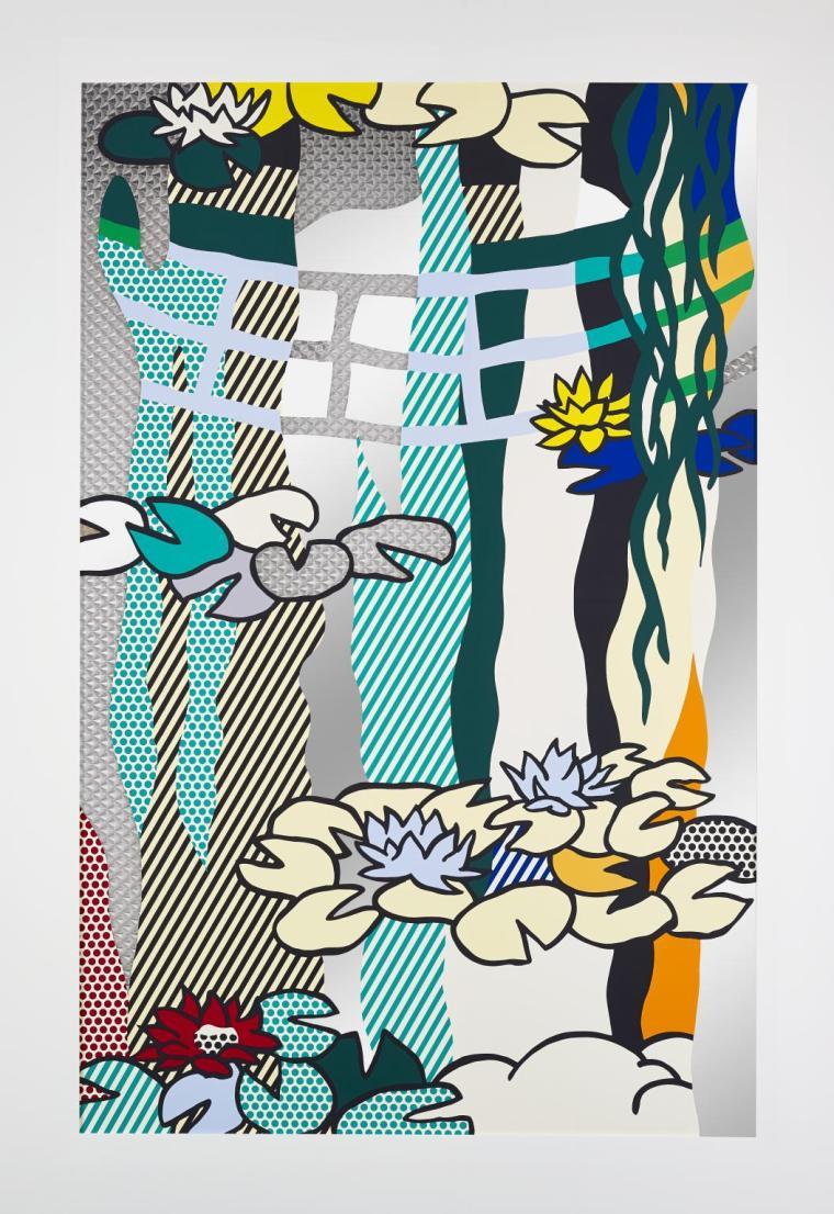 Water Lilies with Japanese Bridge 1992 by Roy Lichtenstein 1923-1997