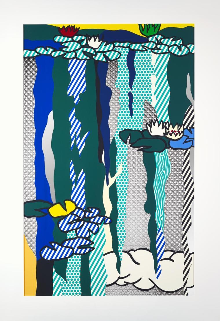 Water Lilies with Cloud 1992 by Roy Lichtenstein 1923-1997