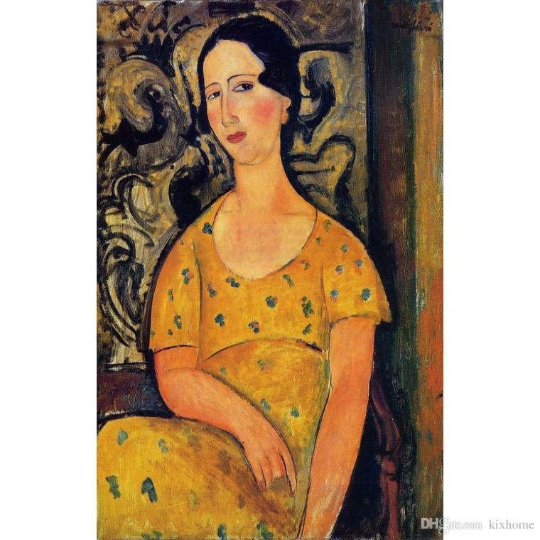 young-woman-in-a-yellow-dress-by-amedeo-modigliani