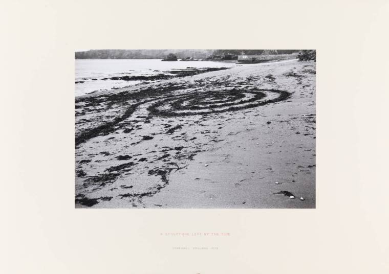 A Sculpture Left by the Tide 1970 by Richard Long born 1945