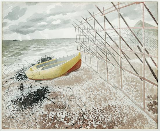 9._Eric_Ravilious__Drift_Boat__1941__Museums_Sheffield_1510920366_crop_550x451