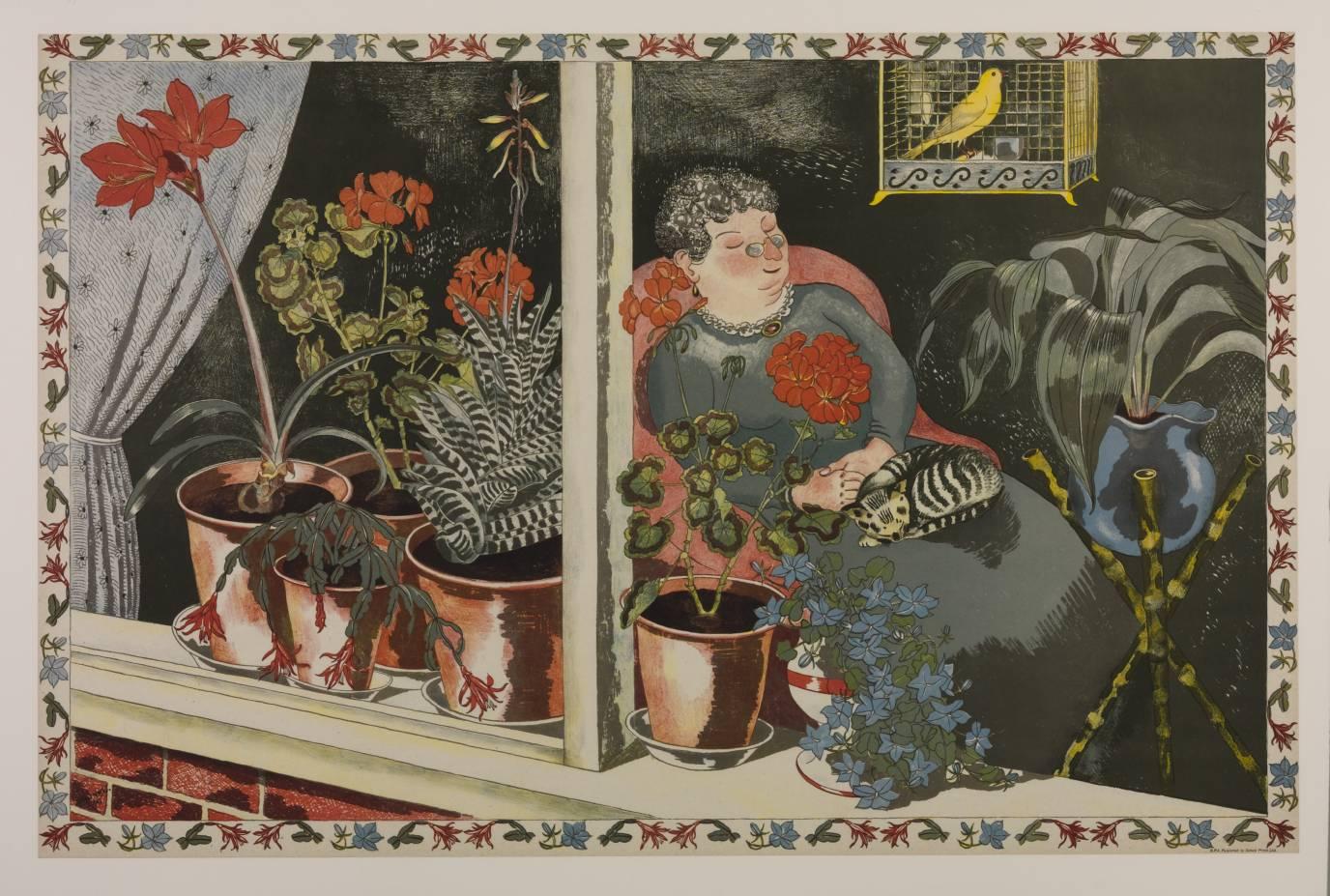 Window Plants 1945 by John Nash 1893-1977